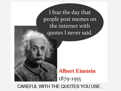 Einstein meme quote